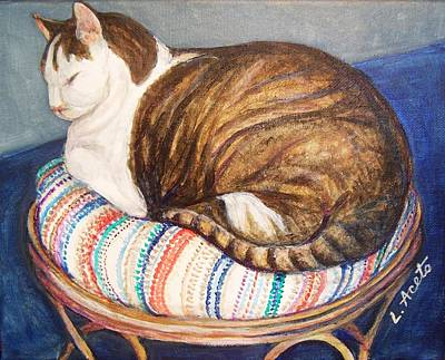 Painting - Cat Nap by Laura Aceto