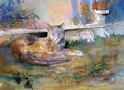 Painting - Cat Nap by Ryan Radke
