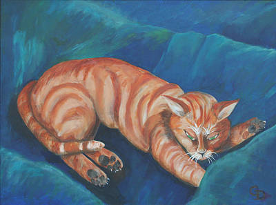 Painting - Cat Napping by Gail Daley
