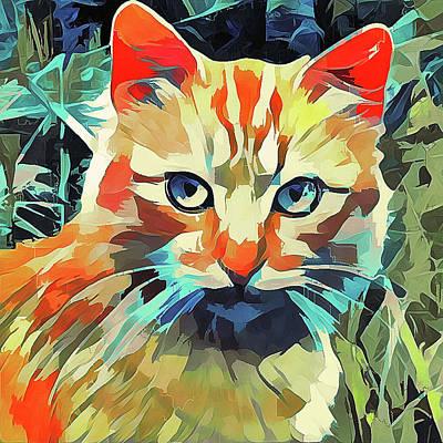 House Pet Digital Art - Cat On Walk by Yury Malkov