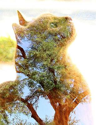 Cat Or Tree Art Print