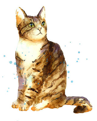 Cat Lover Painting - Cat Painting by Alison Fennell