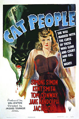 Mixed Media - Cat People 1942 by Movie Poster Prints