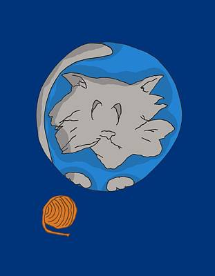 Cat Planet Original by Brian Cattapan