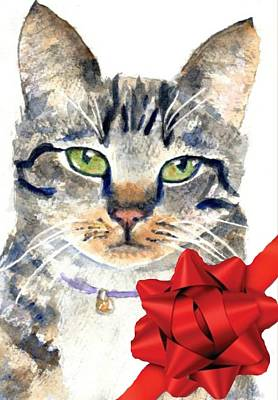 Painting - Cat Portrait Gift by Carlin Blahnik