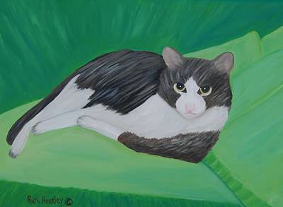 Cat Portrait  Sold Art Print by Ruth  Housley