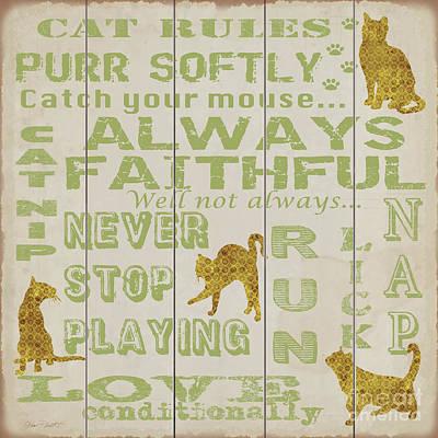 Pets Art Digital Art - Cat Rules-jp3035 by Jean Plout