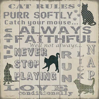 Pets Art Digital Art - Cat Rules-jp3038 by Jean Plout