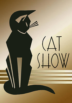 Digital Art - Cat Show  by Chuck Staley
