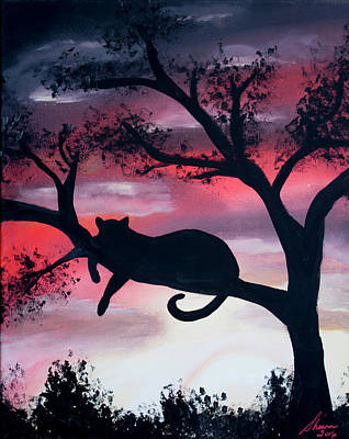 Cat Sillouette Original by Sheena Martinez