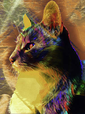 Digital Art - Cat Spirit Guide by Dorothy Berry-Lound