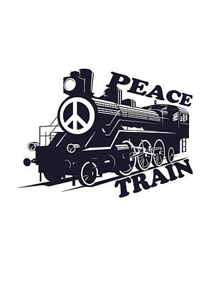 Art On Demand Drawing - Cat Stevens - Peace Train Is Coming by Lee Brown