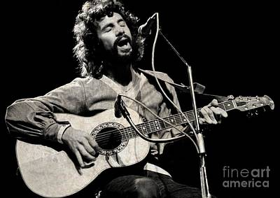 Recently Sold - Musicians Royalty Free Images - Cat Stevens Performing Royalty-Free Image by Pd