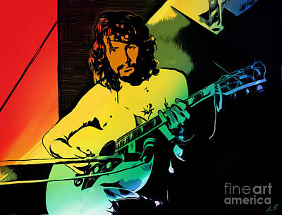 Drawing - Cat Stevens by Sergey Lukashin