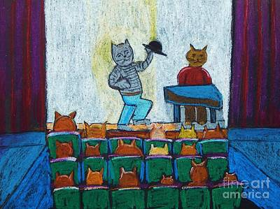 Pastel - Cat Theatre by Reb Frost