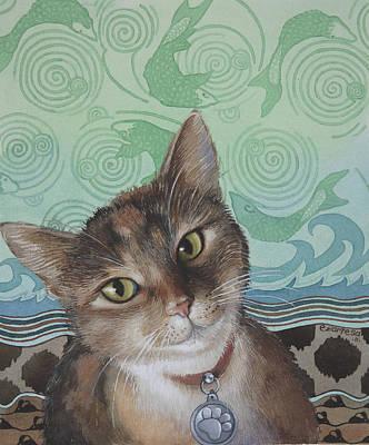 Painting - Cat Tiger by Ezartesa Art
