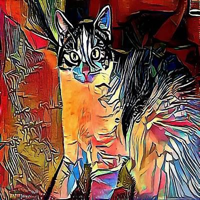 Purebred Digital Art - cat - My WWW vikinek-art.com by Viktor Lebeda