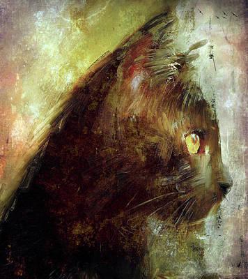Kitty Digital Art - Cat Wisdom by Yury Malkov