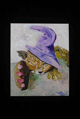 Painting - Cat With A Magician's Hat by AJ Brown