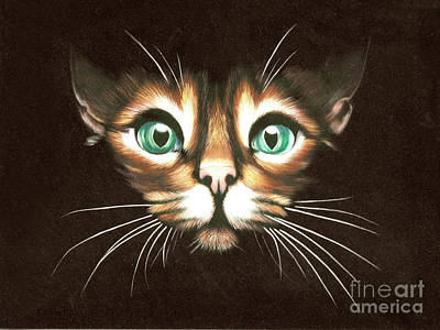 Cat With Green Eyes Art Print by Kristian Leov
