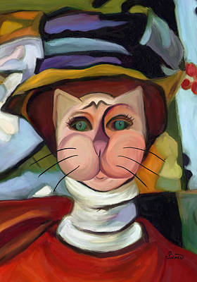 Giving Painting - Cat With Green Eyes by Patti Siehien