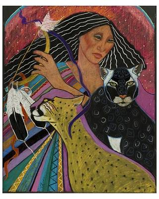 Cat Woman From Palenque Art Print