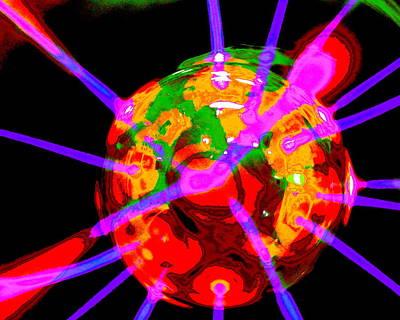 Digital Art - Cataclysmic Kaleidoscope by Larry Beat
