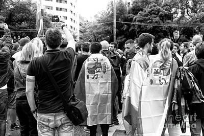 Photograph - Catalan Protest Barcelona by John Rizzuto