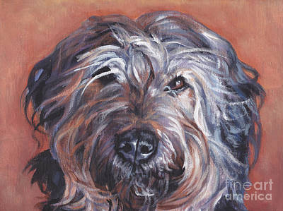 Painting - Catalan Sheepdog by Lee Ann Shepard