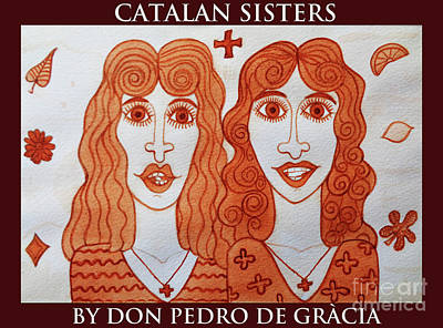 Painting - Catalan Sisters Eating Sweets by Don Pedro De Gracia