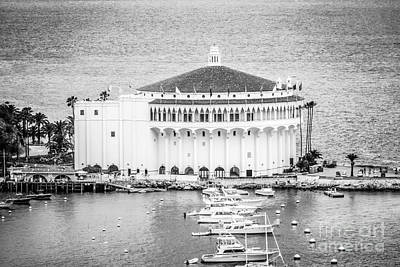 Catalina Casino Picture In Black And White Art Print by Paul Velgos