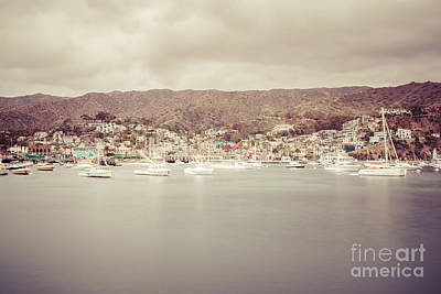 Avalon Photograph - Catalina Island Avalon Bay Retro Photo by Paul Velgos