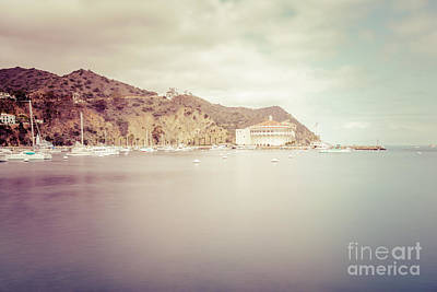 Avalon Photograph - Catalina Island Avalon Bay Vintage Picture by Paul Velgos