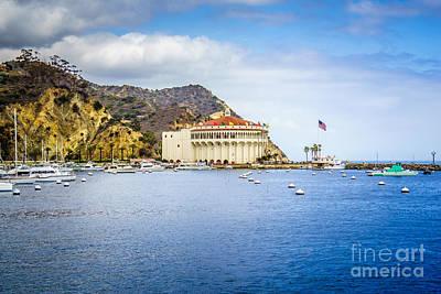 Catalina Island Photograph - Catalina Island Casino Avalon Bay Picture by Paul Velgos