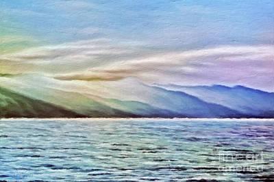 Mixed Media - Catalina Island Impression by Gabriele Pomykaj