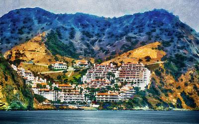 Mixed Media - Catalina Island Life by Joseph Hollingsworth