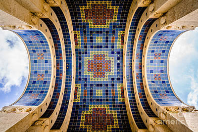 Avalon Photograph - Catalina Island Wrigley Memorial Tiled Ceiling by Paul Velgos