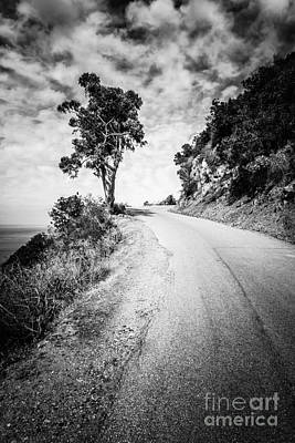 Catalina Island Wrigley Road Black And White Photo Art Print by Paul Velgos