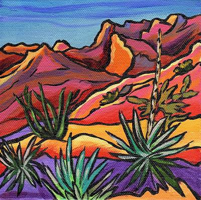 Painting - Catalina State Park - Mini 1 by Alexandria Winslow