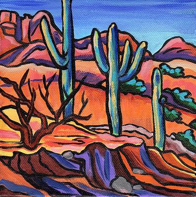 Southwestern Painting - Catalina State Park - Mini 2 by Alexandria Winslow