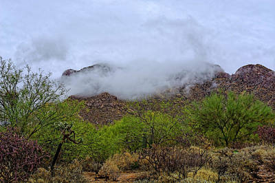 Photograph - Catalinas In Clouds H1816 by Mark Myhaver
