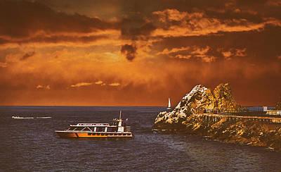 Mixed Media - Catalina's Lovers Cove by Joseph Hollingsworth