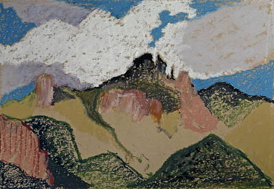 Sunny Day Drawing - Catalinas Patchwork by Bonnie See