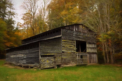 Painting - Cataloochee Valley Barn by Jonas Wingfield