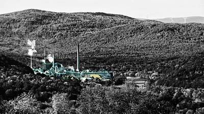 Photograph - Catalyst Paper Company-black And White With Selective Color by Mike Breau