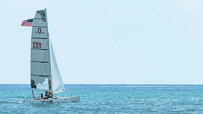 Photograph - Catamaran Delray Beach Florida by Lawrence S Richardson Jr