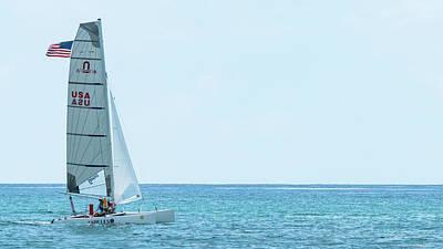 Photograph - Catamaran Delray Beach Florida by Lawrence S Richardson Jr