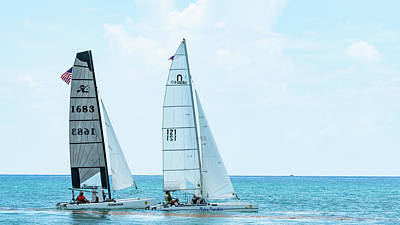 Photograph - Catamaran Race Delray Beach Florida by Lawrence S Richardson Jr