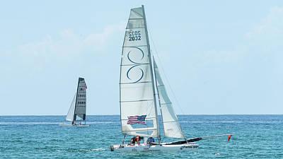 Photograph - Catamarans 2 Delray Beach, Florida by Lawrence S Richardson Jr