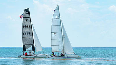 Photograph - Catamarans Delray Beach Florida by Lawrence S Richardson Jr